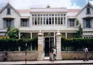 Typical wooden colonial house in Mauritius