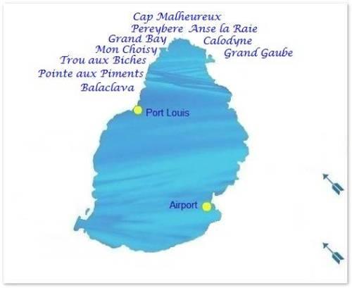 Beach map North coast