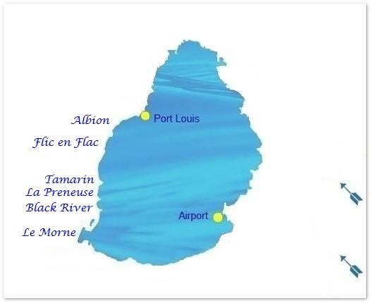 Mauritius West coast