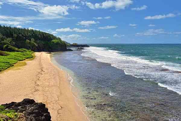 Gris Gris beach at Souillac