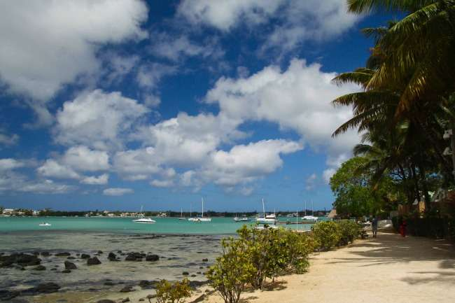 The bay in Grand Bay Mauritius