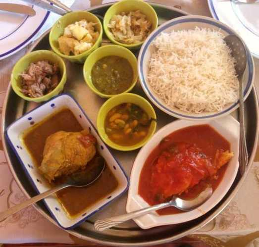 Mauritius authentic food buffet