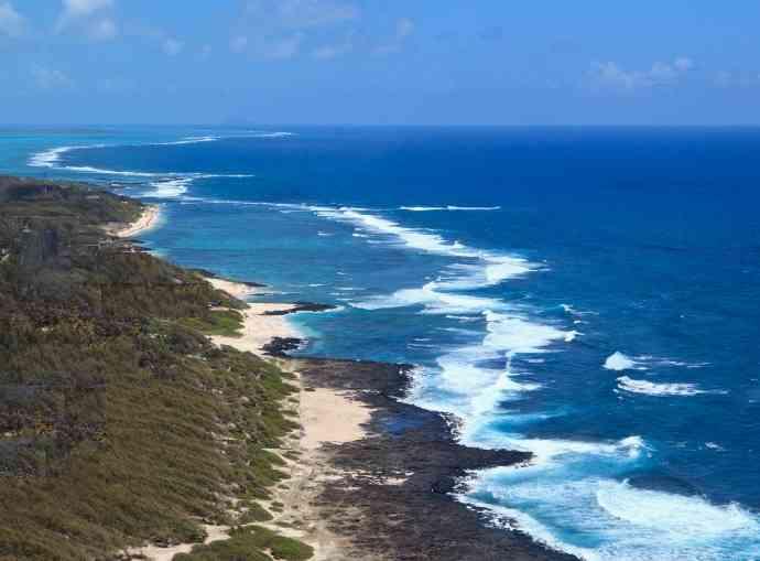 Wild beaches of South East Mauritius