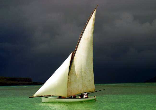 sailing boat called pirogue