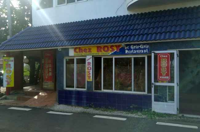 Chez Rosy Mauritian restaurant in the South