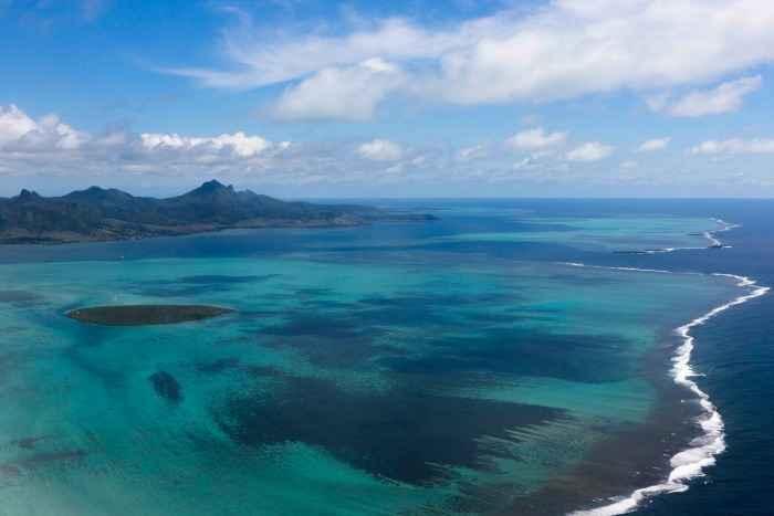 Ile aux Aigrettes Aerial view