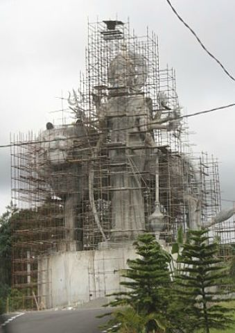 Durga giant statue Grand Bassin Mauritius
