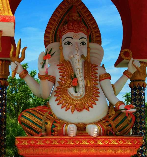 Clay statue of Ganesh