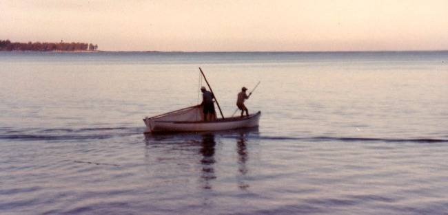 Fishermen in their boat