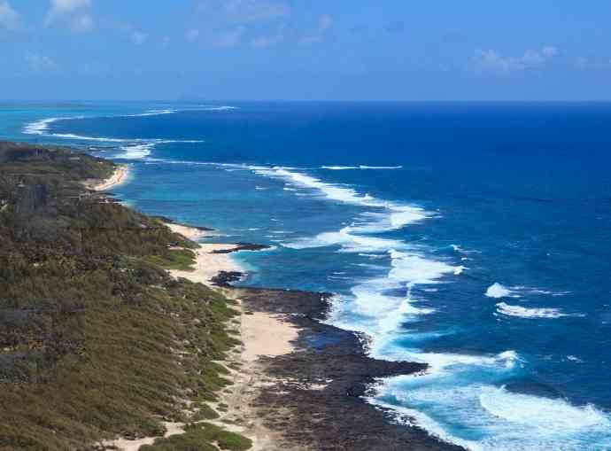 Wild beaches of South East Mauritius