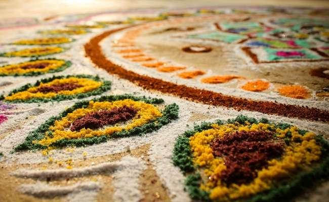 Rangoli design during Diwali