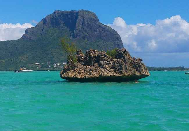 Crystal Rock in Black River lagoon Mauritius