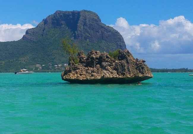 Crystal Rock in Black River lagoon Mauritius