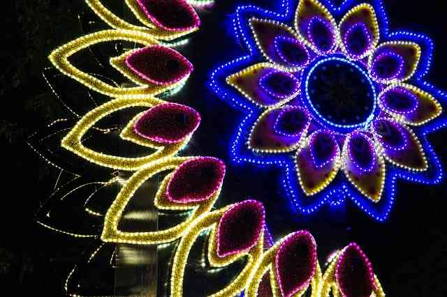 Colourful Diwali lights