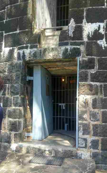 Entrance door to the Martello Tower in Mauritius