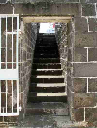 Ghat steps in Port Louis