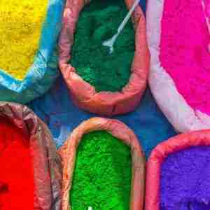 Holi festival powders