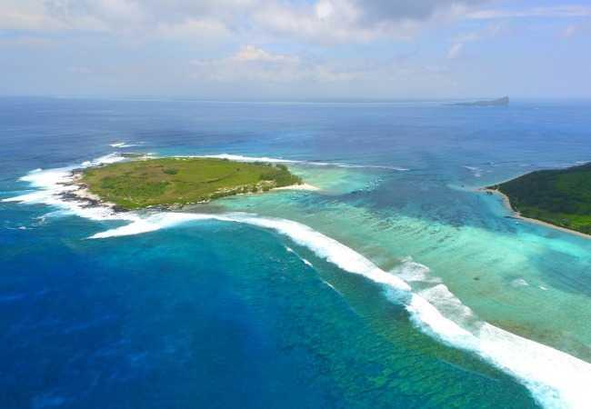 Aerial view of Ilot Gabriel Mauritius
