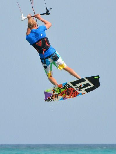 Kiteboarding jumping
