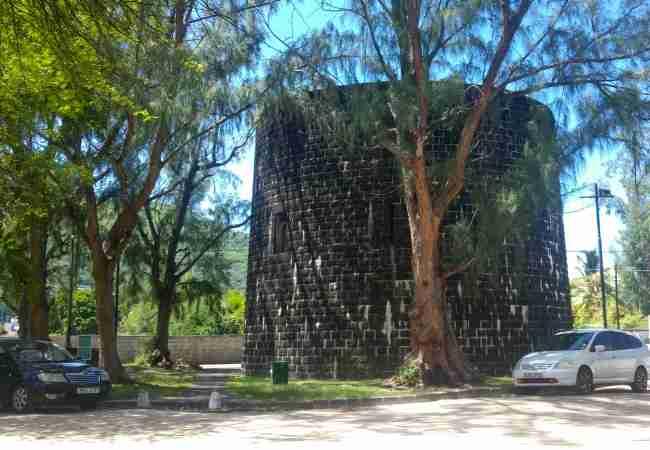 The Martello Tower at La Preneuse in Mauritius