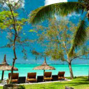 Sea view from a beach villa