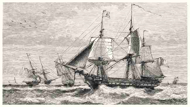 Old naval battle