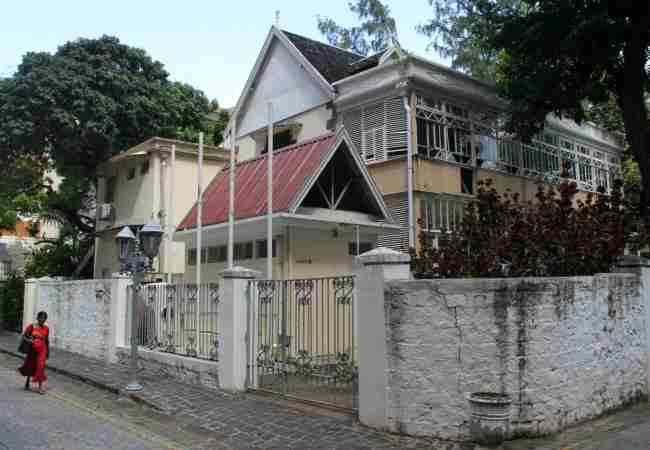Old wooden house in Port Louis