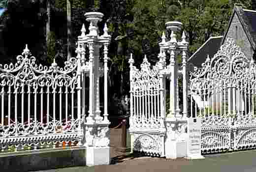 Wrought iron gate at the Pamplempousse garden