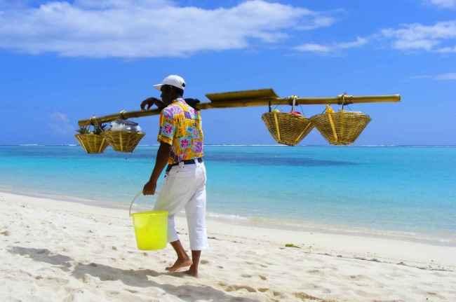 Beach vendor Mauritius