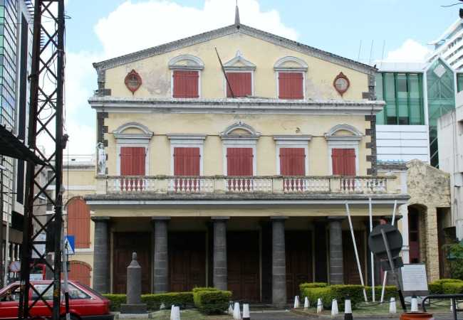 The old Port Louis theatre
