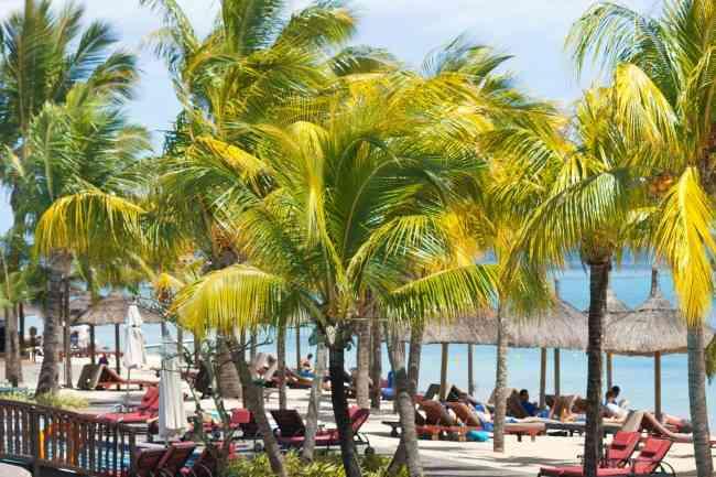 Resort hotel beach Mauritius