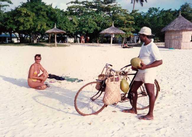 Coconut vendor Mauritius