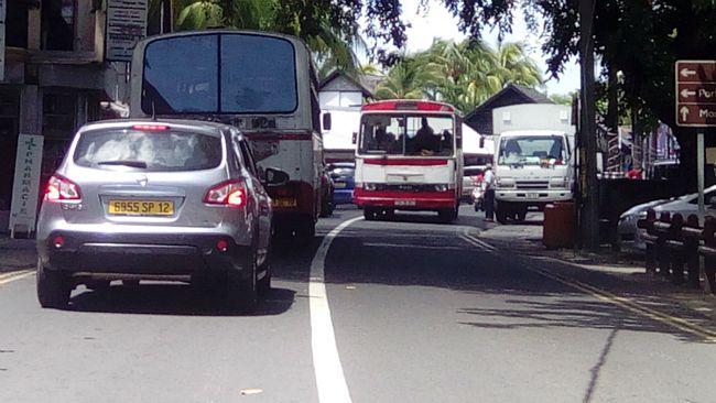 Village road in Mauritius