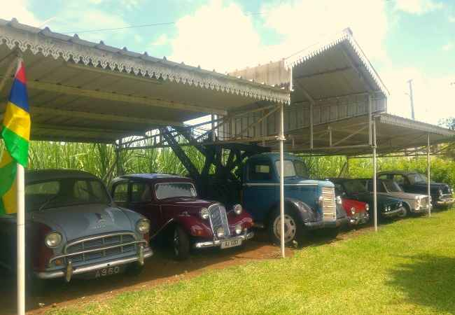 Vintage car collection at chez Tante Athalie