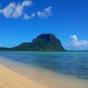 West coast of Mauritius with Le Morne