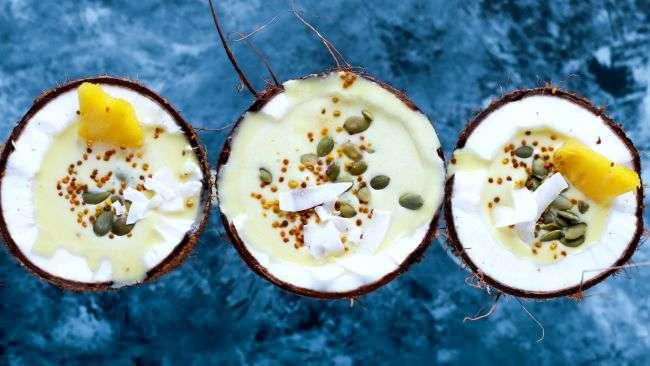Tropical coconut desserts