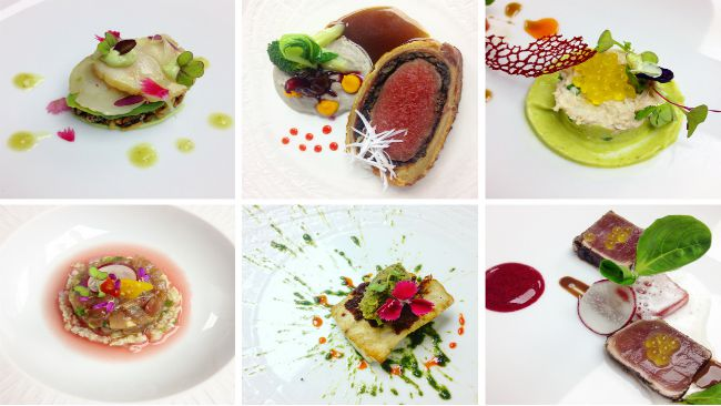 Gourmet dishes at l'Explorateur restaurant
