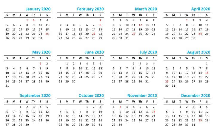 Mauritius public holidays 2020 calendar