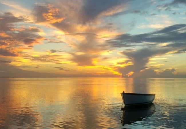 Sunset cruise in Mauritius