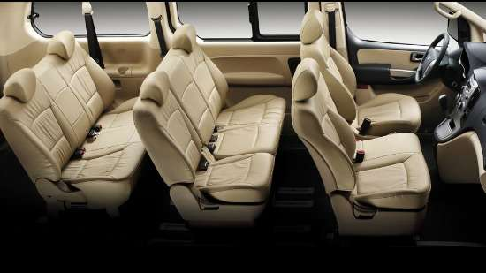Interior of a minivan